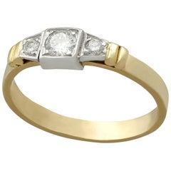 1950s Diamond and Yellow Gold Three-Stone Ring