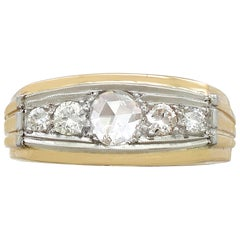 1950s Diamond and Yellow Gold, White Gold Dress Ring