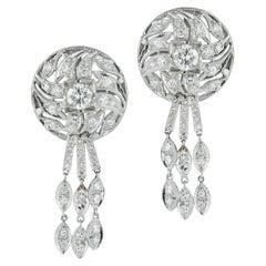 1950's Diamond Dangle Earrings