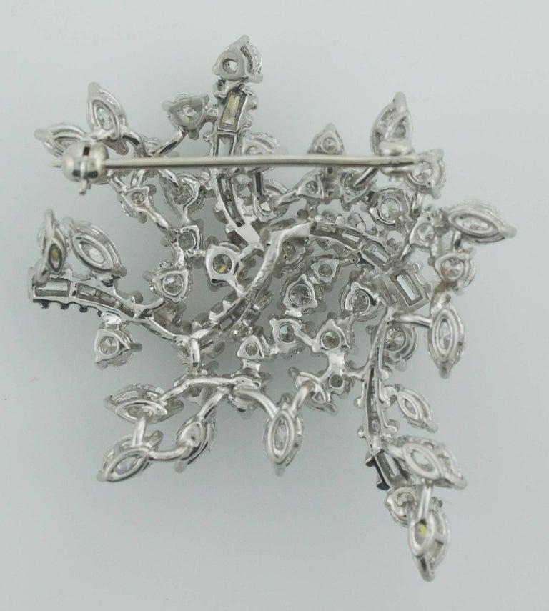 1950's Diamond Handmade Diamond Brooch