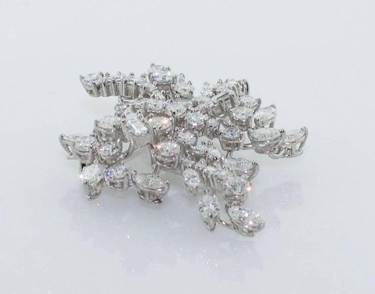 1950s Diamond Handmade Diamond Brooch