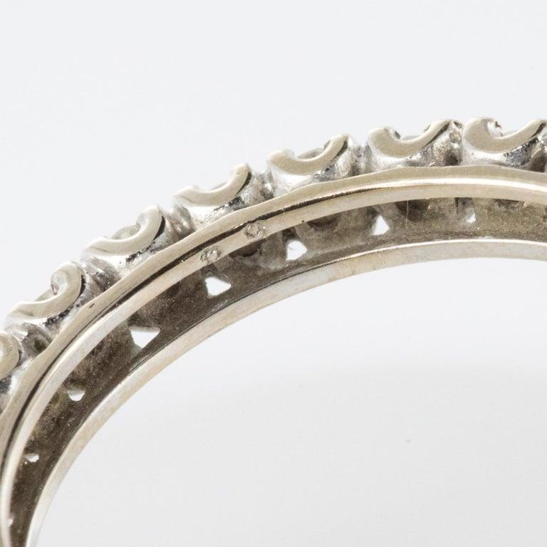 1950s Diamond Platinum Wedding Ring For Sale 5