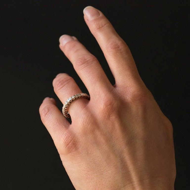 Women's 1950s Diamond Platinum Wedding Ring For Sale