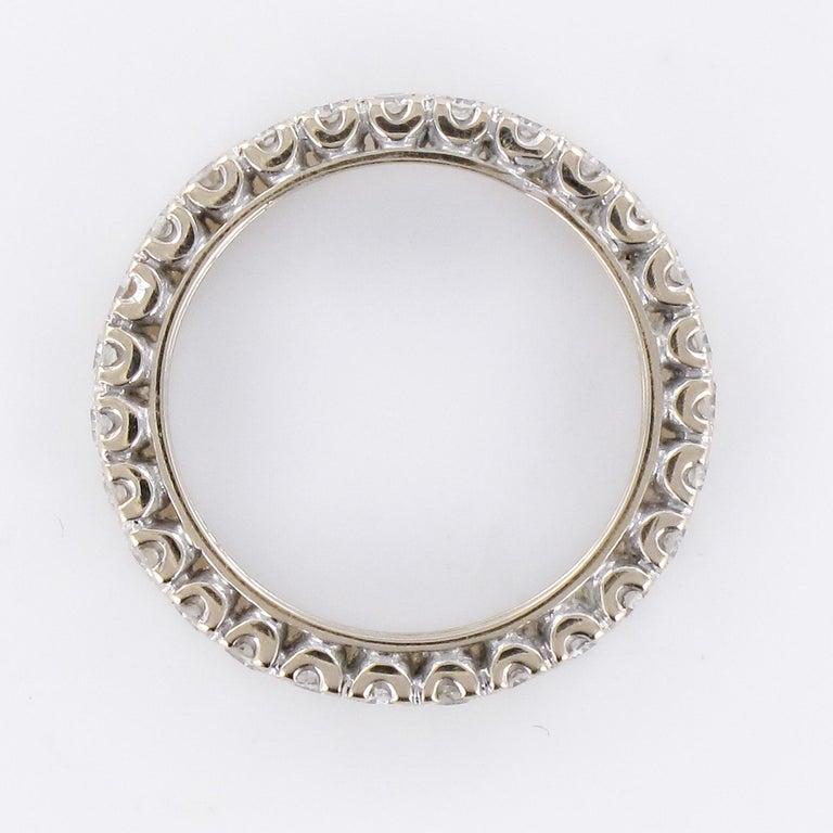 1950s Diamond Platinum Wedding Ring For Sale 3