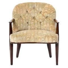 1950s Dining Height Upholstered Janus Chair by Edward Wormley for Dunbar