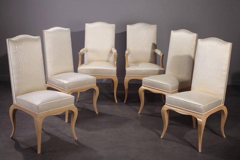 20th Century 1950s Dining Room Set in Sycamore For Sale