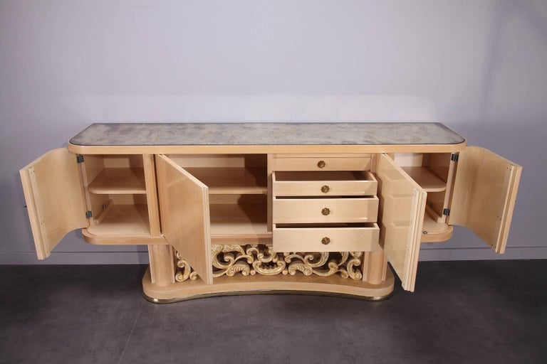 1950s Dining Room Set in Sycamore For Sale 1