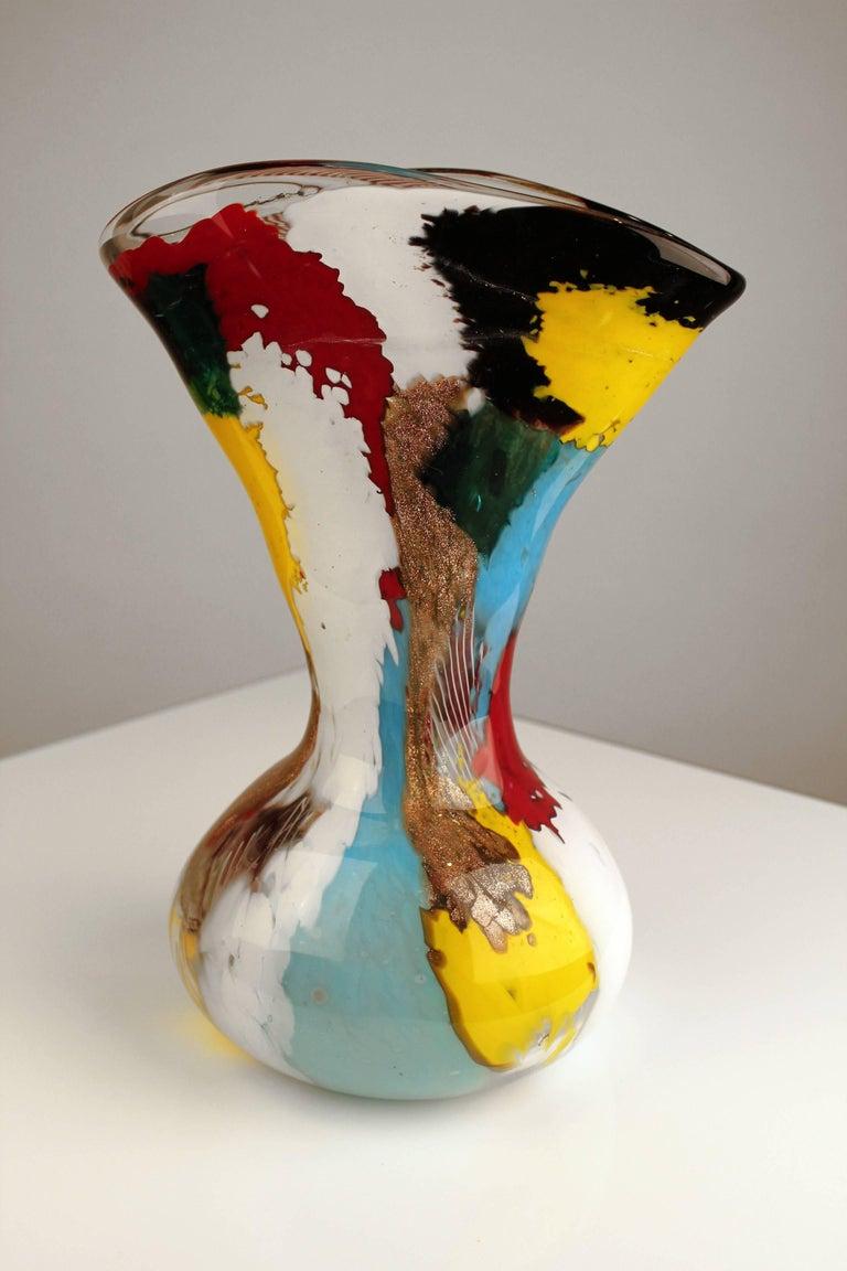 Italian 1950s Dino Martens Geltrude Vase for Aureliano Toso For Sale
