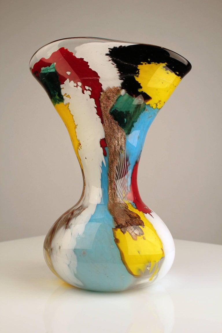1950s Dino Martens Geltrude Vase for Aureliano Toso In Good Condition For Sale In Dallas, TX