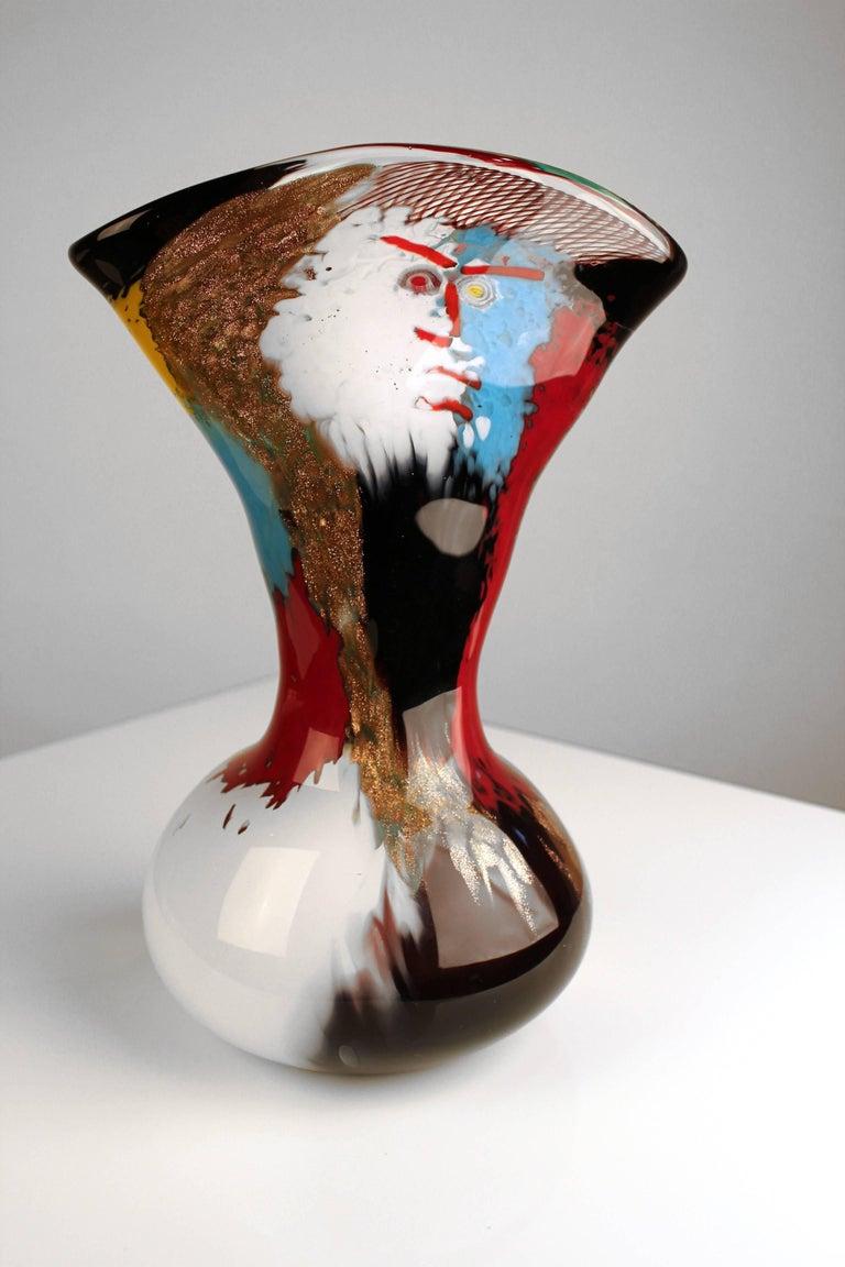 20th Century 1950s Dino Martens Geltrude Vase for Aureliano Toso For Sale