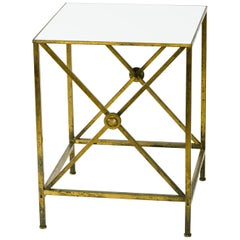 1950s Directoire Brass Side Table
