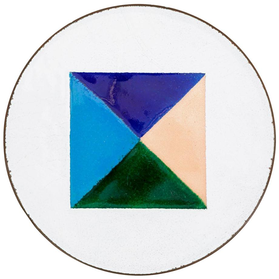 1950s Dish in Enameled Copper by Ettore Sottsass