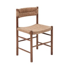 "1950's ""Dordogne"" Chair in Straw & Wood by Charlotte Perriand for Robert Sentou"