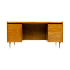 1950s Double Pedestal Desk by Edward Wormley for Dunbar