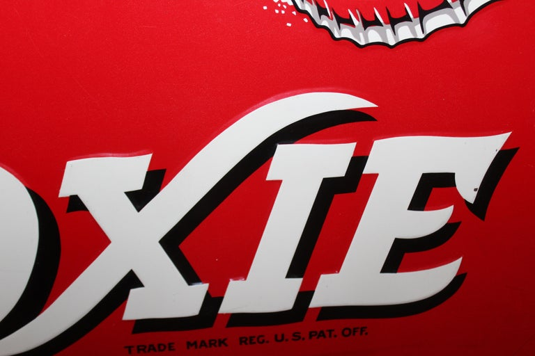 1950s Drink Moxie Soda Tin Advertising Sign For Sale 8