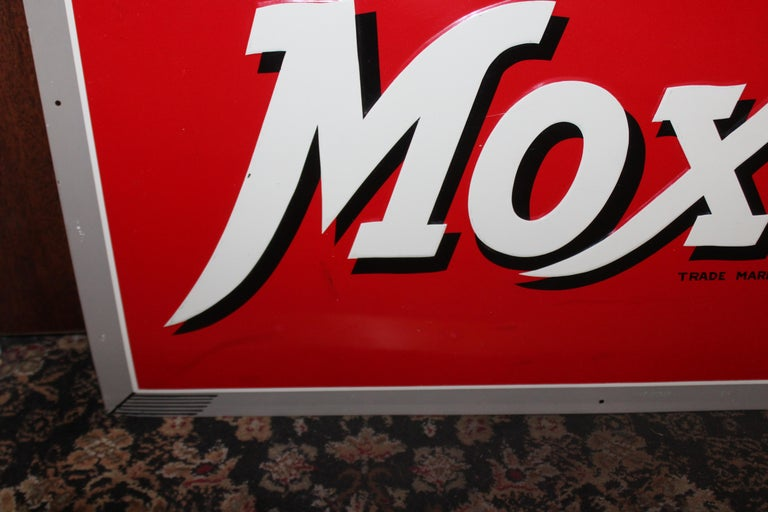 1950s Drink Moxie Soda Tin Advertising Sign For Sale 9