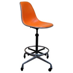 1950s Eames Aluminum Group or Action Office Architectural Drafting Stool, USA