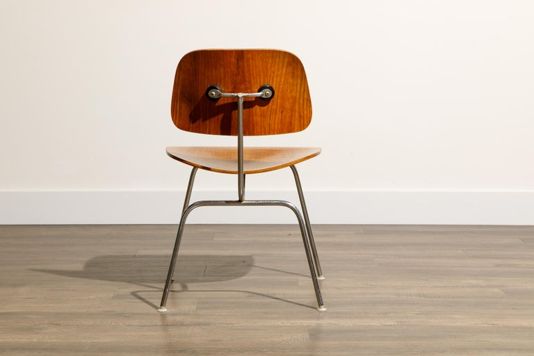 1950s Early Production 'DCM' Chairs by Charles Eames for Herman Miller, Signed  For Sale 7