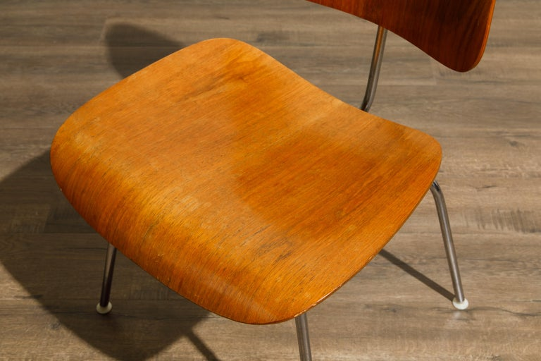 1950s Early Production 'DCM' Chairs by Charles Eames for Herman Miller, Signed  For Sale 10