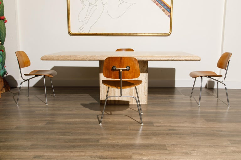1950s Early Production 'DCM' Chairs by Charles Eames for Herman Miller, Signed  For Sale 1