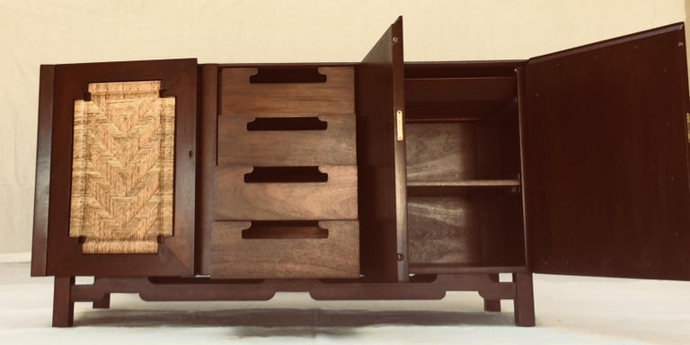 Mexican Edmond Spence Six Piece Mahogany Dinning Set for Industria Mueblera, S.A. 1950s  For Sale