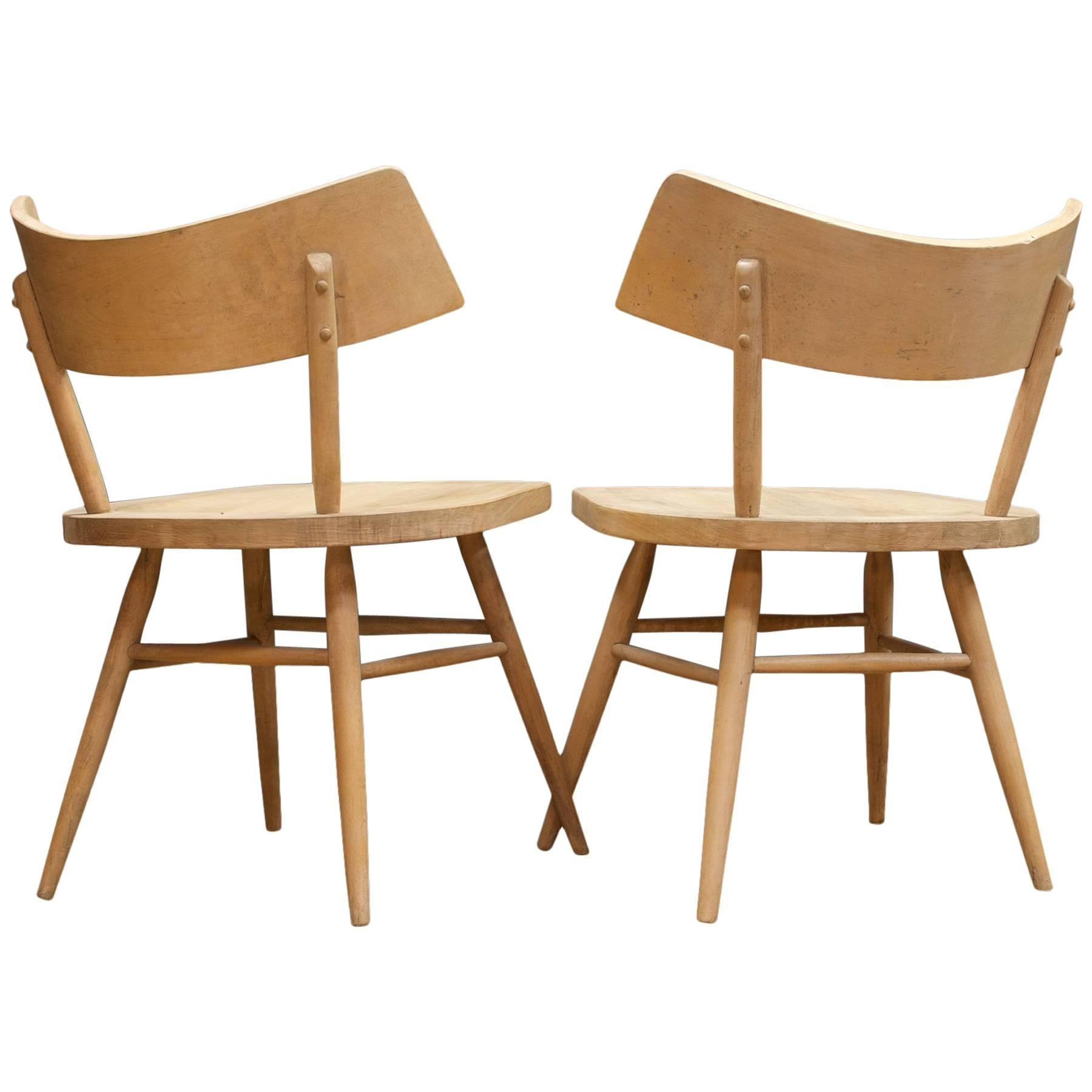 1950s Accent Chairs.1950s Edmond Spence Swedish Origami Bat Wing Accent Chairs Pair Of Architects