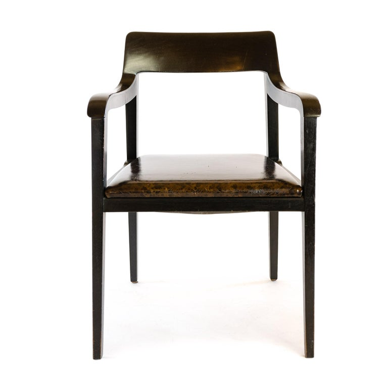 Truly timeless, Professor Richard Reimerschmid's Dresden arm chair remains as crisp and current today as it was in 1899 when it was designed for the 1899 Dresden Exposition. It's easy to understand why Edward Wormley held it in such deep