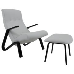 1950s Eero Saarinen Grasshopper Chair and Stool for Knoll