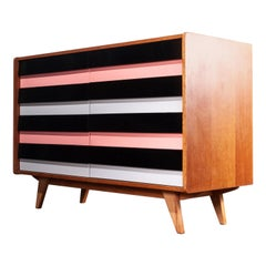 1950s Eight-Drawer Oak Chest of Drawers by Jiri Jiroutek for Interieur Praha