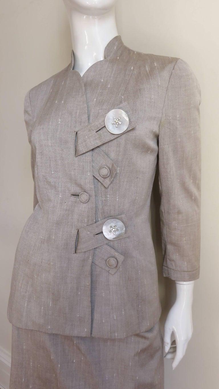 Gray 1950s Eisenberg Originals Suit For Sale