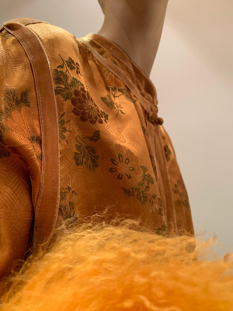 1950s Eleanora Garnett Asian-Inspired Silk Brocade Opera Coat W/ Mongolian Cuffs For Sale 6