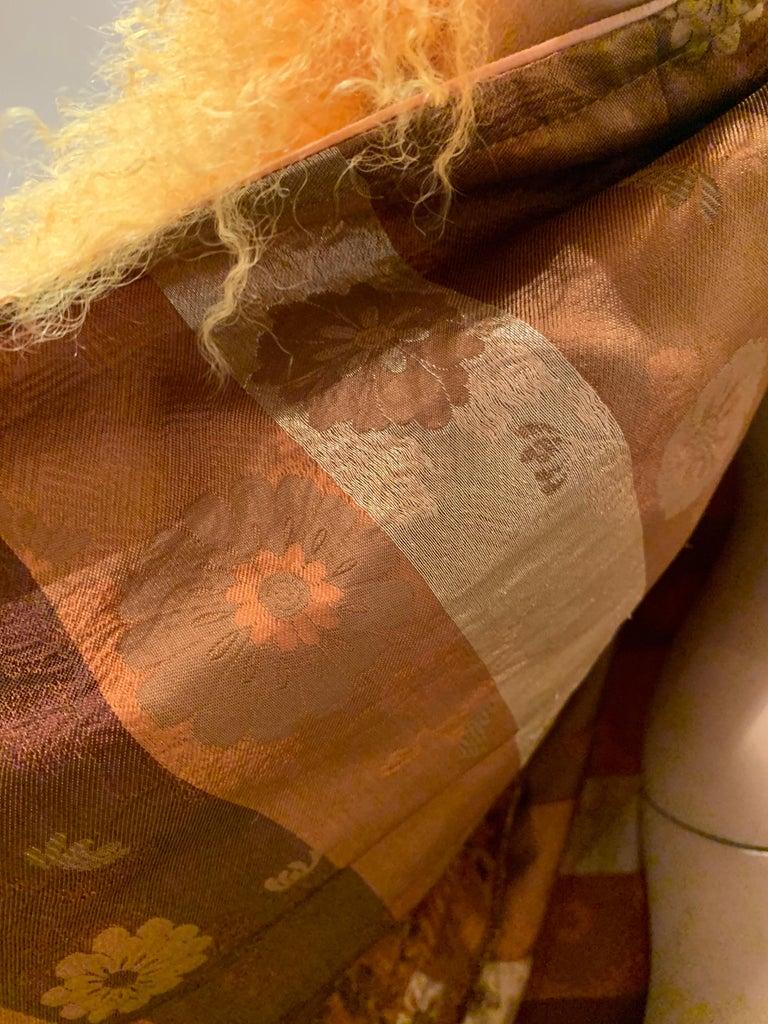 1950s Eleanora Garnett Asian-Inspired Silk Brocade Opera Coat W/ Mongolian Cuffs For Sale 9
