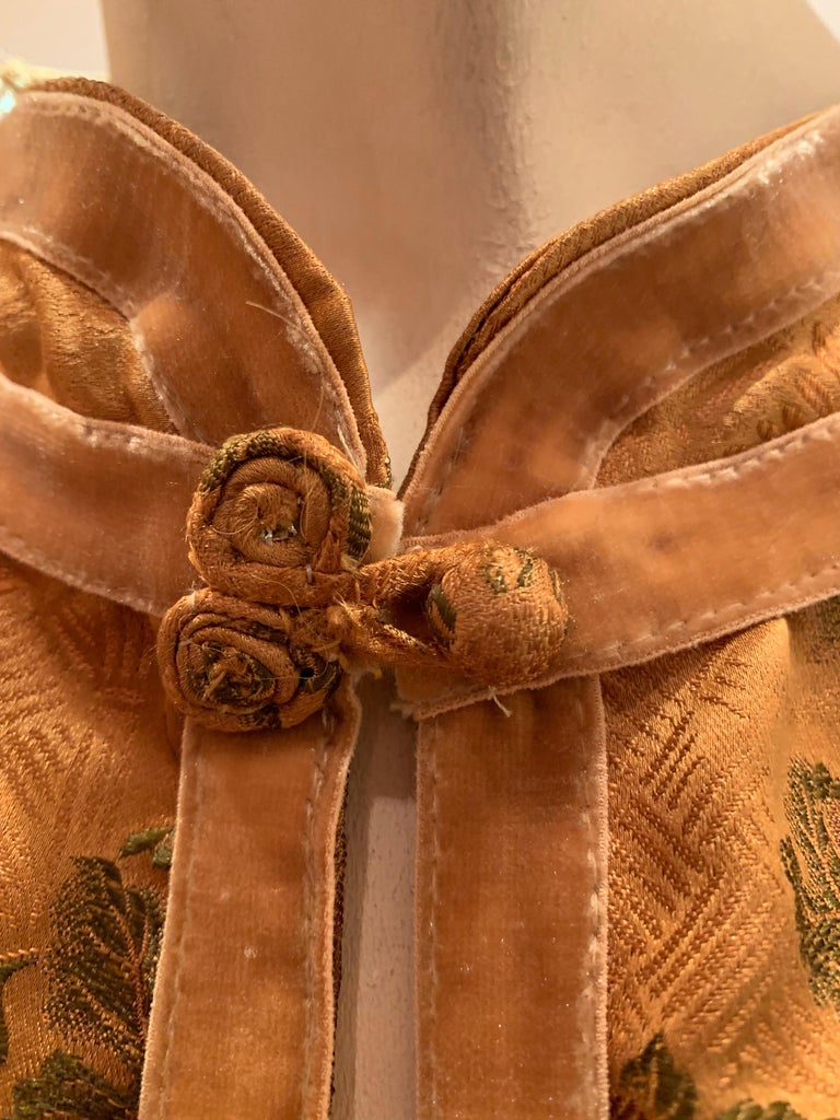 1950s Eleanora Garnett Asian-Inspired Silk Brocade Opera Coat W/ Mongolian Cuffs For Sale 11