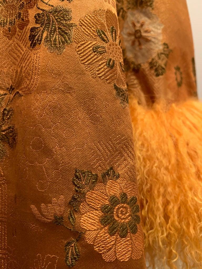 1950s Eleanora Garnett Asian-Inspired Silk Brocade Opera Coat W/ Mongolian Cuffs For Sale 12