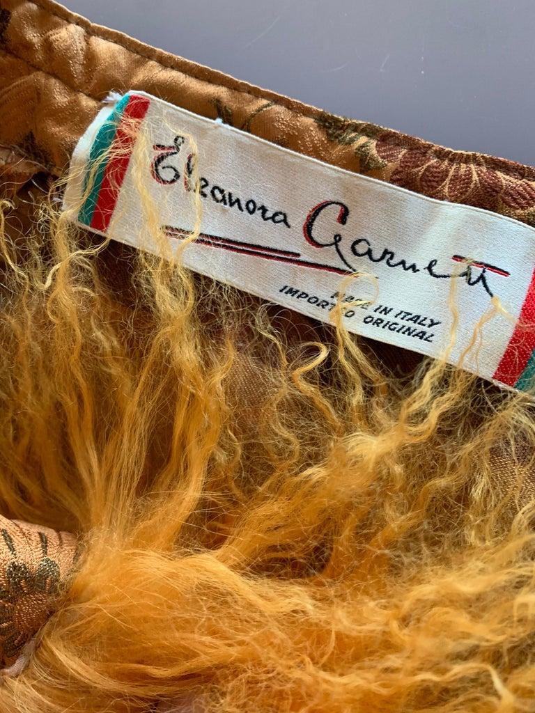 1950s Eleanora Garnett Asian-Inspired Silk Brocade Opera Coat W/ Mongolian Cuffs For Sale 13