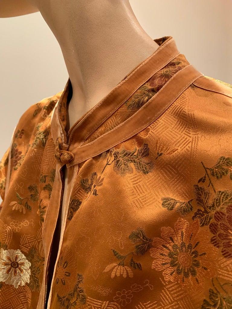 1950s Eleanora Garnett Asian-Inspired Silk Brocade Opera Coat W/ Mongolian Cuffs For Sale 1