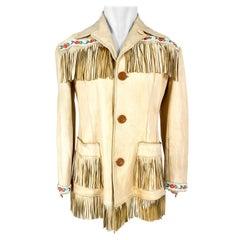 1950s Elk Fringe Handmade Jacket