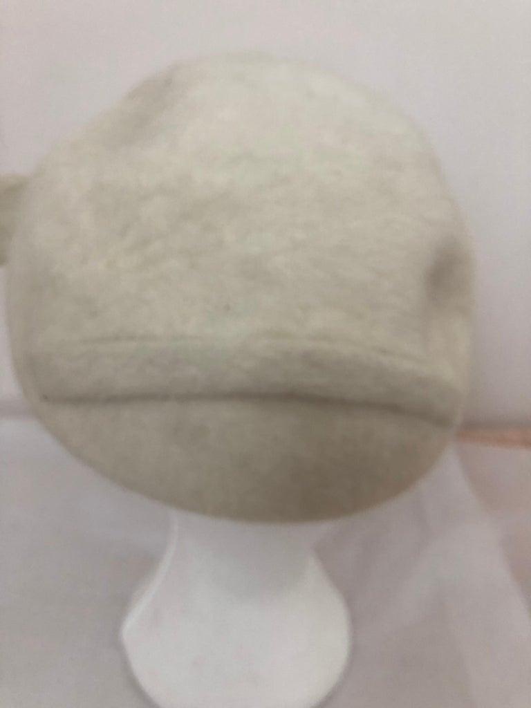 1950s Elsa Schiaparelli Fur Felt Hat For Sale 1