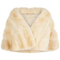 1950s Emba Tourmaline Mink Fur Caplet With Silk Lining