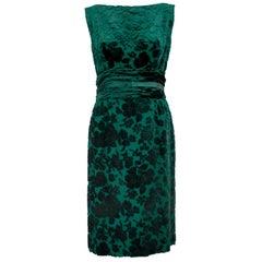 1950s Emerald Green Dress and Jacket Ensemble