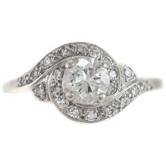 1950s Engagement Ring with Spiral Setting