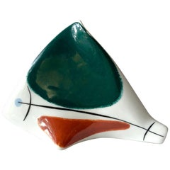 1950s European Modernist Porcelain Fish Sculpture