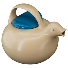 1950s Eva Zeisel for Monmouth Pottery Bird Teapot Mid-Century Figural Vessel