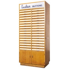 1950s Excelsior Haberdashery Multi Drawer Button Cabinet, Thirty Four-Drawer