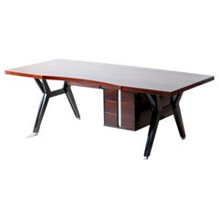 1950s Executive Desk in Mahogany by Ico Parisi for MIM Roma