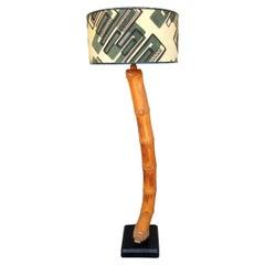 1950s Exotic Slanted Bamboo Stem Floor Lamp