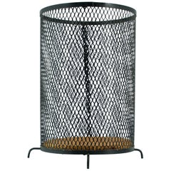 1950s Expanded Metal Blueprint Basket Paper Wastebasket Style of George Nelson