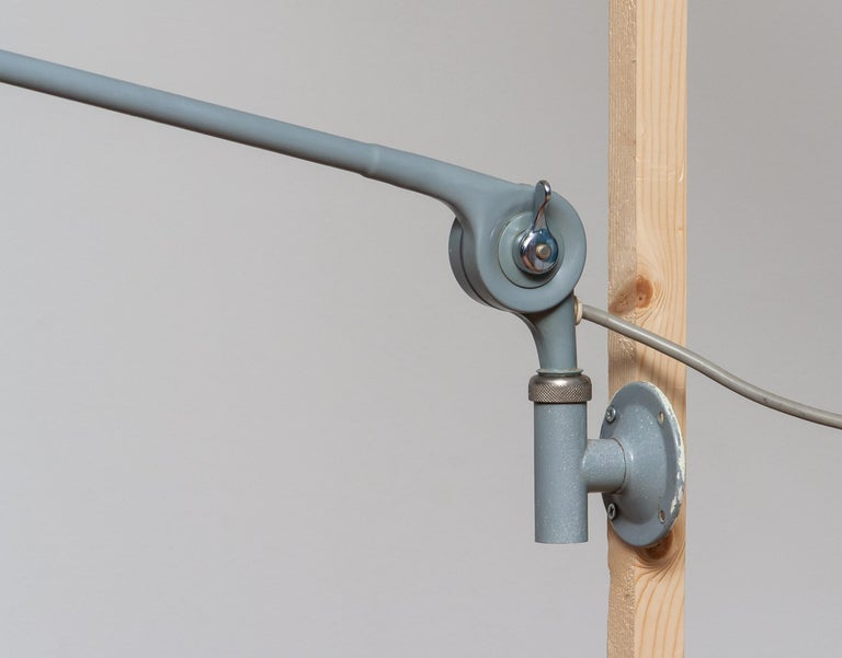 1950s, Extra Large Industrial Metal Wall Lamp or Pendel Lamp by PeFeGe, Sweden 1