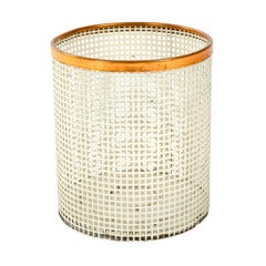 1950s Extruded Steel Waste Basket