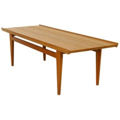 1950s FD532 Solid Teak Coffee Table by Finn Juhl for France & Daverkosen Denmark